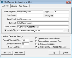 Mail Transaction Monitoring Add-In Screen Shot